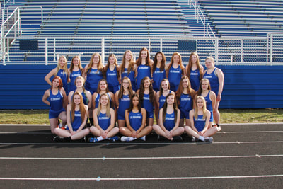 Team picture of Girls Track.
